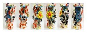 """Happy Happy Lucky Vase"" H62 x 29 x 33cm Toowoomba Regional Art Gallery Collection 2017."